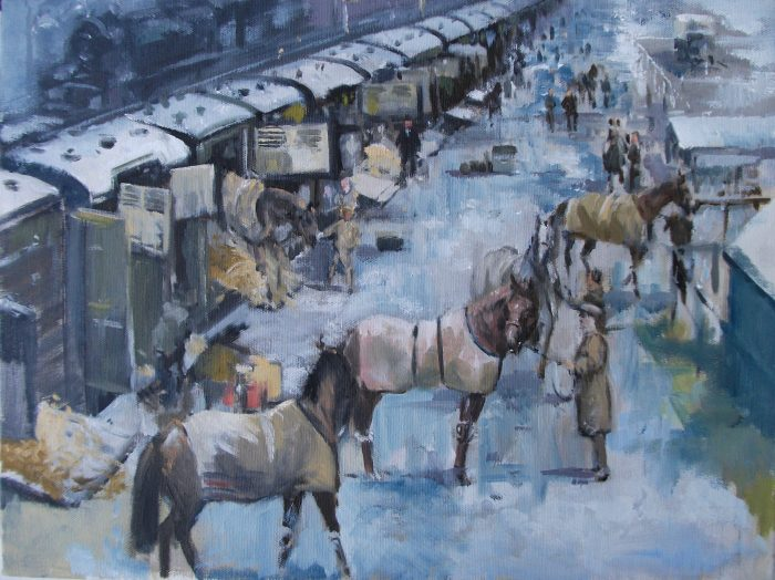 """Arriving at Ascot"" by David 'Mouse' Cooper."