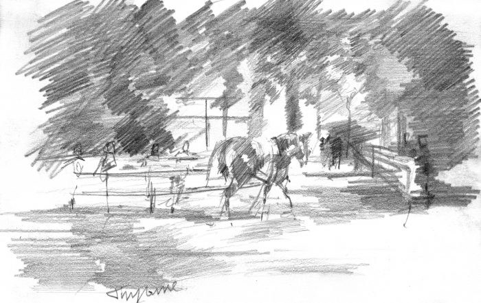 """July Shadows-Sketch"" by David 'Mouse' Cooper."